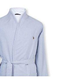 RALPH LAUREN HOME - Szlafrok Oxford z bawełny. Kolor: biały. Materiał: bawełna. Wzór: haft