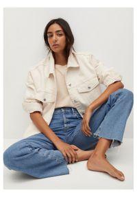 mango - Mango Kurtka jeansowa Seul 87026304 Beżowy Oversize. Kolor: beżowy. Materiał: jeans