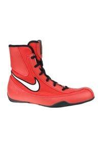 Czerwone buty treningowe Nike w kolorowe wzory, z cholewką
