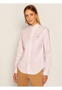 Różowa koszula Lauren Ralph Lauren polo