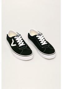 Vans - Tenisówki skórzane. Nosek buta: okrągły. Zapięcie: sznurówki. Kolor: czarny. Materiał: skóra