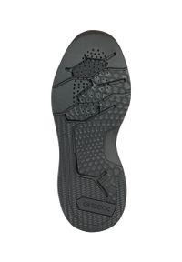 Czarne sneakersy Geox na sznurówki, z cholewką