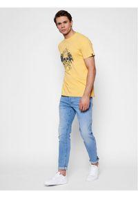 Żółty t-shirt Quiksilver