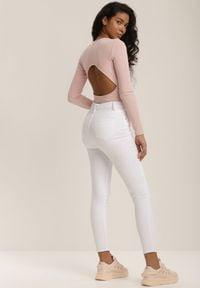 Renee - Białe Spodnie Skinny Winvienne. Kolor: biały