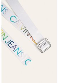 Biały pasek Calvin Klein