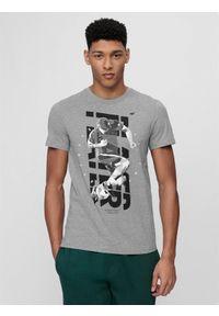 Szara koszulka sportowa 4f