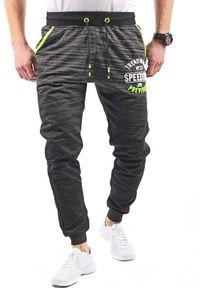 Czarne spodnie dresowe Recea z nadrukiem