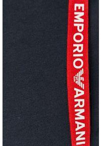 Niebieskie spodnie dresowe Emporio Armani z nadrukiem