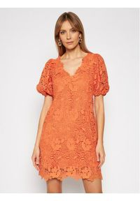 Pomarańczowa sukienka letnia