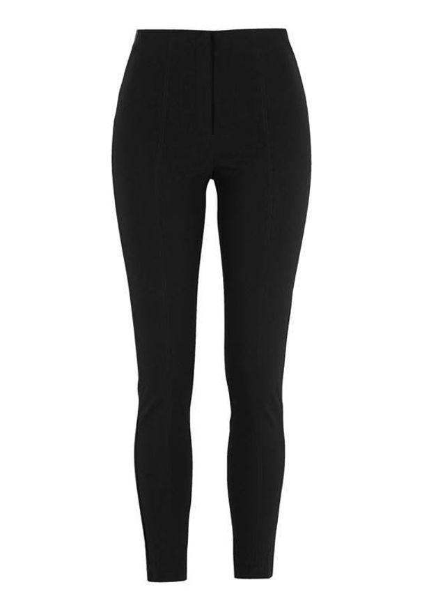 Soyaconcept Spodnie z bengaliny Lilly Czarny female czarny 42. Okazja: na co dzień. Kolor: czarny. Styl: elegancki, casual