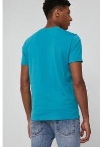 medicine - Medicine - T-shirt Basic. Kolor: niebieski. Materiał: bawełna, dzianina, włókno