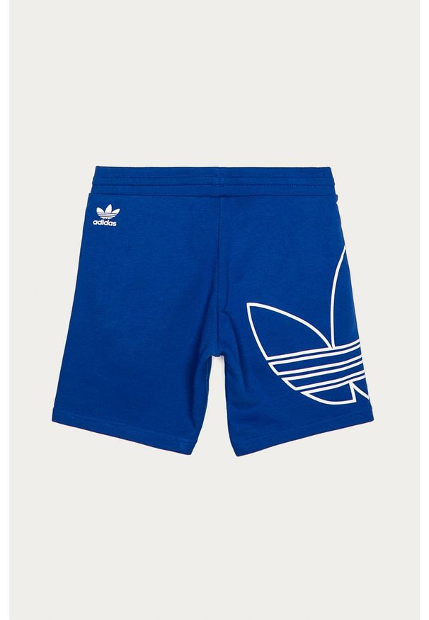 Niebieskie spodenki adidas Originals na co dzień, casualowe