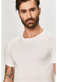 Lacoste - T-shirt (3-pack). Okazja: na co dzień. Kolor: biały. Materiał: dzianina. Styl: casual
