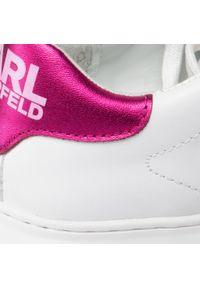 Białe półbuty Karl Lagerfeld z cholewką, z aplikacjami