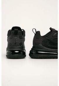 Czarne sneakersy Nike z cholewką, na sznurówki, z okrągłym noskiem #4