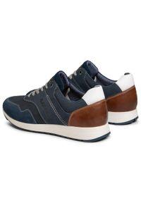 Niebieskie sneakersy s.Oliver z cholewką, na co dzień