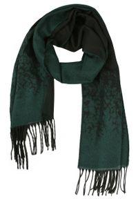 Zielony szalik His Story na zimę, melanż, elegancki