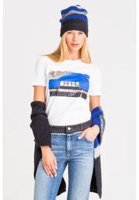 T-shirt Sportmax Code z okrągłym kołnierzem, w kolorowe wzory