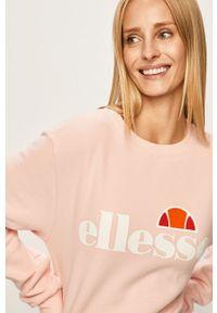 Różowa bluza Ellesse bez kaptura, na co dzień, z nadrukiem, casualowa