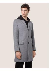 Szary płaszcz przejściowy Hugo