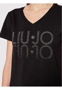 Liu Jo Sport T-Shirt TF1217 J9944 Czarny Regular Fit. Kolor: czarny. Styl: sportowy