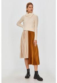 Beżowa sukienka AllSaints na co dzień, casualowa
