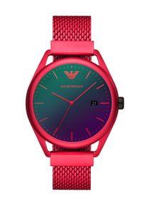Czerwony zegarek Emporio Armani Underwear
