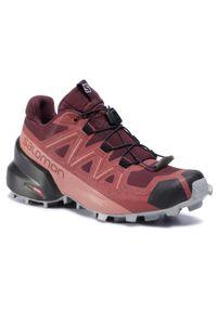 Czerwone buty trekkingowe salomon z cholewką, Salomon Speedcross
