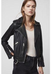 Czarna kurtka AllSaints bez kaptura, casualowa, na co dzień #8