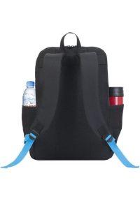 Czarny plecak na laptopa RIVACASE casualowy