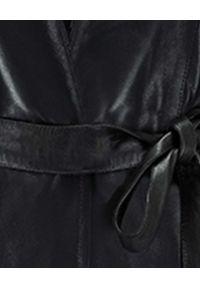 SELF LOVE - Skórzana kurtka Ragusa. Okazja: na co dzień. Kolor: czarny. Materiał: skóra. Długość rękawa: długi rękaw. Długość: długie. Styl: casual