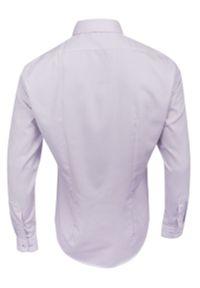 Fioletowa elegancka koszula Bello z długim rękawem, długa