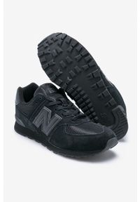 Czarne buty sportowe na sznurówki, z cholewką, New Balance 574