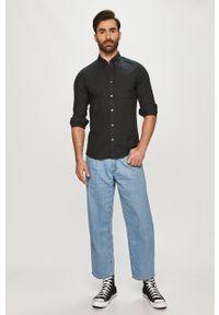 Czarna koszula Calvin Klein Jeans długa, button down, na co dzień