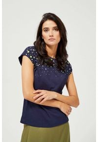 MOODO - T-shirt z nadrukiem. Materiał: bawełna. Długość rękawa: krótki rękaw. Długość: krótkie. Wzór: nadruk