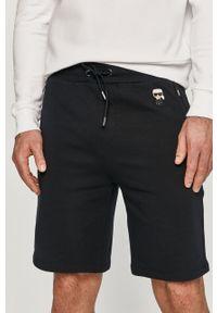 Niebieskie szorty Karl Lagerfeld na co dzień, z nadrukiem