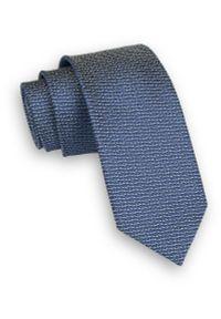 Niebieski krawat Alties melanż, klasyczny