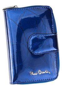 Portfel damski Pierre Cardin 02 LEAF 115 NIEBIESKI. Kolor: niebieski. Materiał: skóra. Wzór: aplikacja