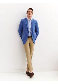 Niebieska koszula TOP SECRET w kolorowe wzory, z długim rękawem