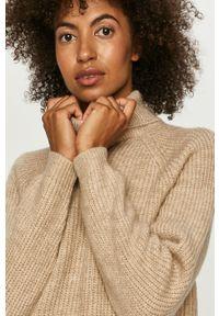 Beżowy sweter only z długim rękawem, długi, z golfem #5