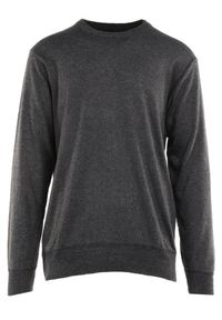 Born2be - Ciemnoszary Sweter Z Wełną Orameia. Kolekcja: plus size. Kolor: szary. Materiał: wełna. Styl: klasyczny
