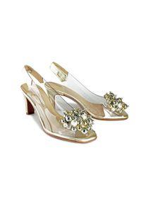 Złote sandały Brenda Zaro