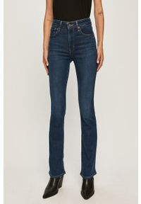 Niebieskie jeansy bootcut Levi's® w kolorowe wzory, z podwyższonym stanem, na spotkanie biznesowe, biznesowe