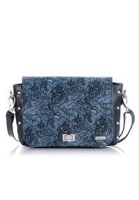 Niebieska torebka PAOLO PERUZZI na ramię