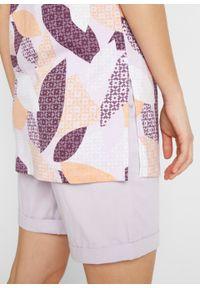 T-shirt boxy z rozcięciami po bokach, długi bonprix fiołkowy bez w graficzny wzór. Kolor: fioletowy. Długość: długie