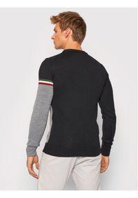 Aeronautica Militare Sweter 212MA1354L384 Czarny Regular Fit. Kolor: czarny