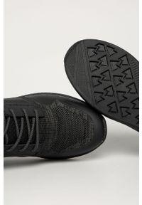 Czarne sneakersy Wrangler z cholewką, z okrągłym noskiem, na sznurówki
