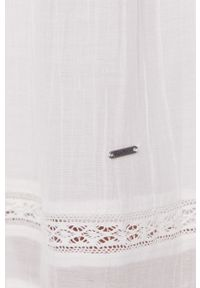 Biała sukienka Pepe Jeans maxi, gładkie, na ramiączkach, na co dzień