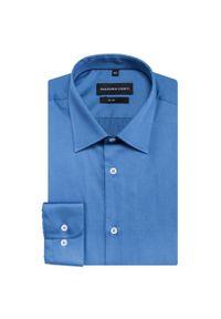 Niebieska koszula Giacomo Conti na spotkanie biznesowe, długa, klasyczna