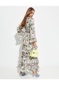 NEEDLE & THREAD - Sukienka maxi Esther. Kolor: zielony. Materiał: wiskoza. Wzór: kwiaty, aplikacja, nadruk. Typ sukienki: proste. Długość: maxi